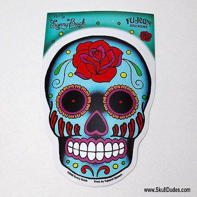 Sunny Buick Rose Sugar Skull Sticker