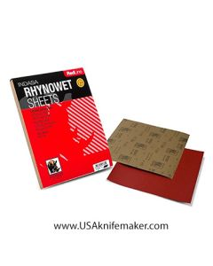 "RHYNOWET® RED LINE®  - 9"" x 11"" Sheets Wet/Dry Aluminum Oxide"