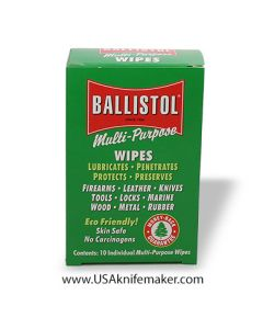 Ballistol Wipes - 10 pack