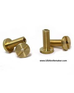 "Chain Ring Bolt 1/4"" Brass MALE dia x .50""L 8-32"