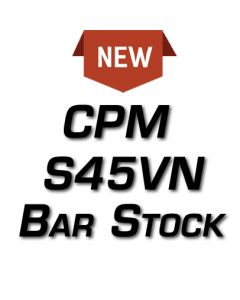"(NEW!) CPM-S45VN *Surface Ground Bar Stock HRA .156"" - See Length Note"
