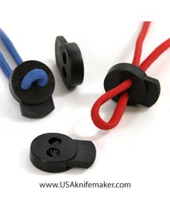Cord Lock Discus Black Paracord