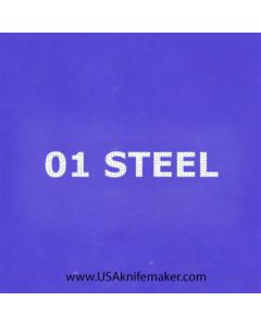 "Stencil -""01 Steel"" - one image - approx 1"" x 2 1/2"" in size"