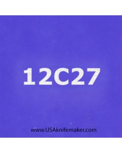 "Stencil -""12c27"" - one image - approx 1"" x 2 1/2"" in size"