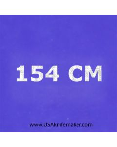 "Stencil -""154 CM"" - one image - approx 1"" x 2 1/2"" in size"