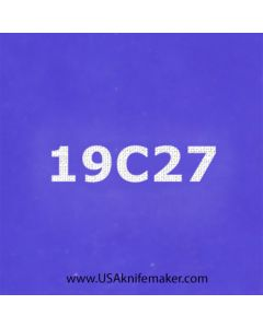"Stencil -""19C27"" - one image - approx 1"" x 2 1/2"" in size"