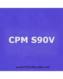 "Stencil -""CPM S90V"" - one image - approx 1"" x 2 1/2"" in size"
