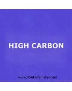 "Stencil -""High Carbon"" - one image - 1"" x 2 1/2"" in size"