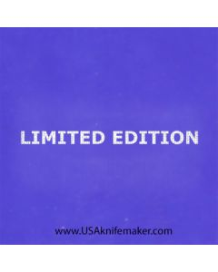 "Stencil -""LIMITED EDITION"" - one image - 1"" x 2 1/2"" in size"