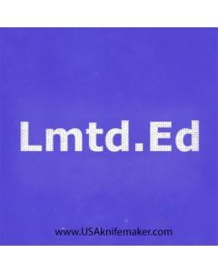 "Stencil -""Lmtd.Ed."" - one image - approx 1"" x 2 1/2"" in size"