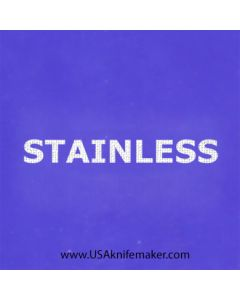 "Stencil -""Stainless"" - one image - approx 1"" x 2 1/2"" In Size"