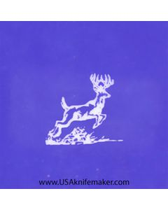 "Stencil -""Running Deer"" Wildlife 2 - one image - approx .5"" x .475"" in size"