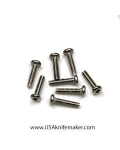 "Screw 0-80 Button Head 1/4"" Thread Length Stainless Steel"