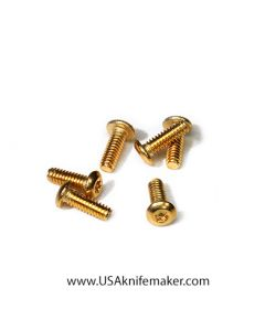 "Screw 2-56 Button Head Gold 1/4"" thread length  20ct Handle Hardware"