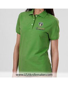 USA Knifemaker Embroidered Women's Polo- Green - X- Large