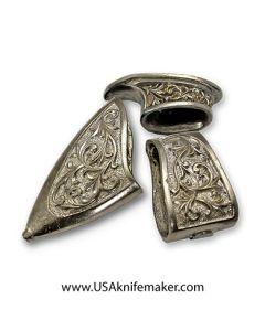 #010 Scabbard Set w/ Guard Nickel Silver