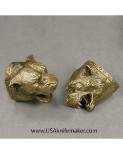 #8 Bear Head Pommel Bronze