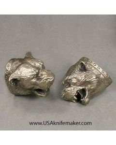 #8 Bear Head Pommel Nickel Silver