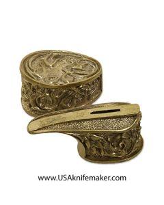 Bowie Knife Guard & Pommel - Bronze