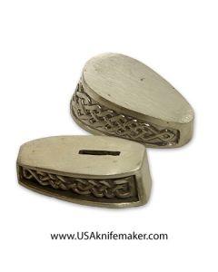Braided Guard & Pommel Set Nickel Silver - 2