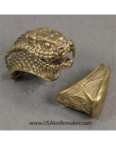 Snake Head Guard & Pommel - Bronze