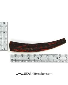 Sambar Stag Tine #116 - Dyed Amber - Knife Handle Material