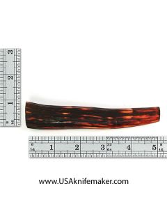 Sambar Stag Tine #121 - Dyed Amber - Knife Handle Material