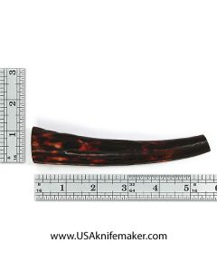 Sambar Stag Tine #130 - Dyed Amber - Knife Handle Material