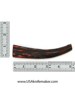 Sambar Stag Tine #136 - Dyed Amber - Knife Handle Material