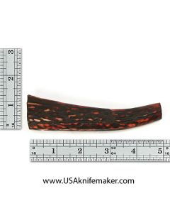 Sambar Stag Tine #137 - Dyed Amber - Knife Handle Material