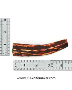 Sambar Stag Tine #143 - Dyed Amber - Knife Handle Material
