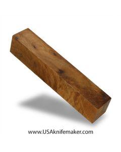 """Thuya Burl Block #2025  - 1 5/16"""" x 1 5/16"""" x 7 1/8"""" wood block"""