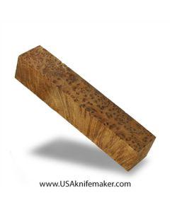 "Thuya Burl Block #2026 - 1 5/16"" x 1 5/16"" x 7 1/8"" - Knife Handle Material"