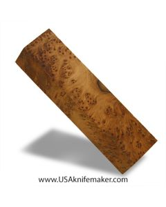 "Thuya Burl Block #2043 - 1 3/8"" x 1 3/4"" x 7 1/4"" - Knife Handle Material"