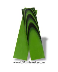 "UltreX™ G10 - Black & Neon Green 3/16"" - Knife Handle Material"