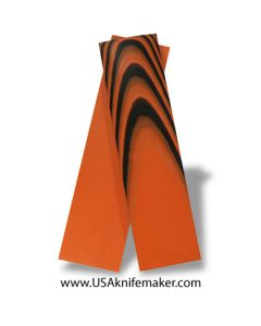 "UltreX™ G10 - Black & Orange 1/4"" - Knife Handle Material"