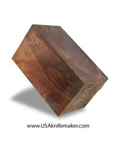 "Walnut Block #003- Stabilized - 2.5"" x 2.5"" x 4.5"" - Knife Handle Material"