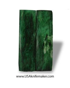 "Camel Bone - Dyed Green- 4.5"" x 1.25"" Pair of Scales"