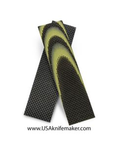 "Carbon Fiber & Yellow G10 1/8"" - Knife Handle Material"