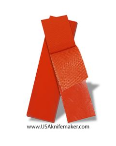 "G10 - PEEL PLY COARSE Hunter Orange 1/8"" - Knife Handle Material"