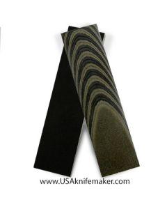 Black & Green Linen