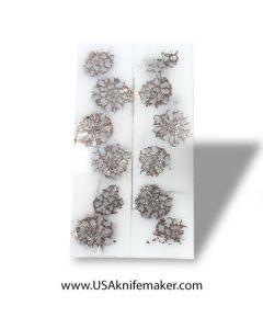 """Cast Pine Cone Scales - White #64 - .25"""" x 1.5"""" x 6"""""""
