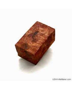"""Wood - Redwood Burl Folder Block - 2 1/2"""" x 1 5/8"""" x 1 3/8"""" - Clear"""