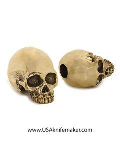 Skull - LionArmory Classic Skull Bead - Brass