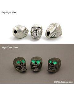 Skull - Grinning Skull GITD Vertical Hole