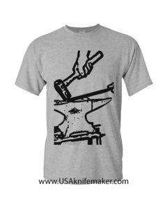 T-Shirt Forge Knifemaker-Gray