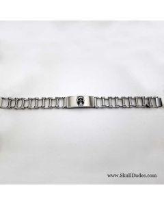 stainless steel motor chain bracelet skull
