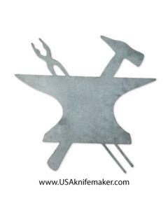 Metal Shop Sign - Anvil, Tongs & Hammer Small