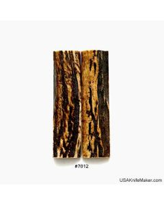 """Sambar Stag Scales #7012 - 3/4"""" x 2.95"""" - Knife Handle Material"""
