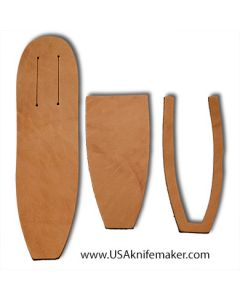 "Sheath Kit #11 - Leather - for knives with blades up to 1 3/4"" wide by 5"" long"